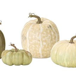 Melrose International Pumpkin Green and White 9 inch Foam Harvest Collectible Figurines Set of 4   Amazon (US)
