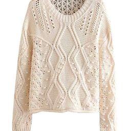 'Adava' Openwork Knitted Sweater | Goodnight Macaroon