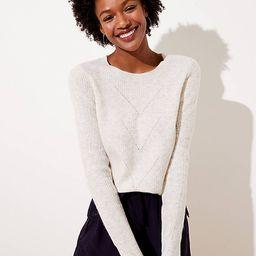 Pointelle Ribbed Sweater | LOFT | LOFT
