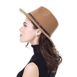 Classic Fedora Panama Hat Wide Brim Belt Buckle Fedora Hat for Women & Men   Amazon (US)