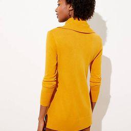 Luxe Knit Cowl Neck Tunic Sweater | LOFT | LOFT