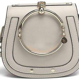 Cowhide Leather Top Handle Handbags Ring Purse Vintage Crossbody Shoulder Bags | Amazon (US)
