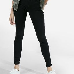 mid rise black jean leggings | Express