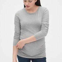 Maternity Pure Body Long Sleeve Crewneck T-Shirt | Gap (US)