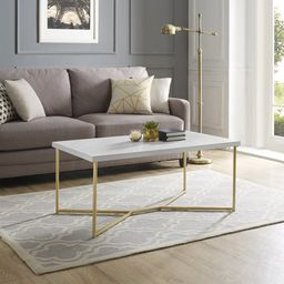 Diana Y-Leg Faux Marble/Gold Coffee Table by Ember Interiors | Walmart (US)