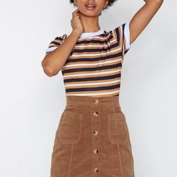 From Now Button Corduroy Skirt | NastyGal (US & CA)