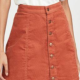 Button Front Miniskirt | Shopbop