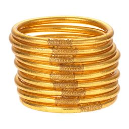 BuDhaGirl All-Weather Bangles, Gold, Size S-L | Neiman Marcus
