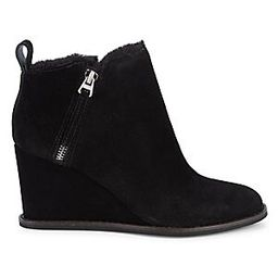 Gili Faux Fur Lined Suede Wedge Booties | Saks Fifth Avenue OFF 5TH