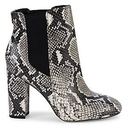 Case Snake-Print Leather Booties | Saks Fifth Avenue OFF 5TH