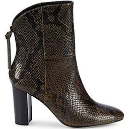 Snakeskin-Embossed Leather Bootie | Saks Fifth Avenue OFF 5TH