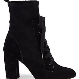 Hacken Suede Lace-Up Booties | Saks Fifth Avenue OFF 5TH