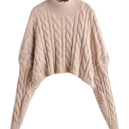 'Jamis' Mock Neck Cropped Sweater (2 Colors) | Goodnight Macaroon