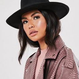 Missguided - Black Ribbon Detail Fedora Hat   Missguided (UK & IE)