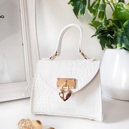 Sofia Micro Mini Bag in White   iKrush