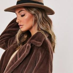 Missguided - Camel Ribbon Fedora Hat | Missguided (UK & IE)