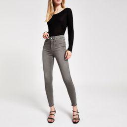 Grey Kaia high rise disco jeans | River Island (UK & IE)
