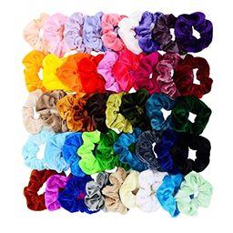 Chloven 45 Pcs Hair Scrunchies Velvet Elastics Bobbles Hair Bands Scrunchy Hair Tie Ropes Scrunch...   Amazon (US)
