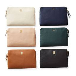 Everyday Italian Leather Zipper Pouch   Mark and Graham
