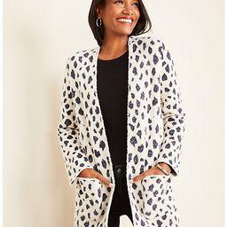 Petite Leopard Print Open Cardigan   Ann Taylor   Ann Taylor (US)