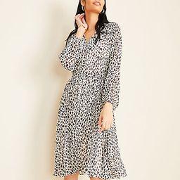 Petite Animal Print Pleated Skirt Dress   Ann Taylor   Ann Taylor (US)