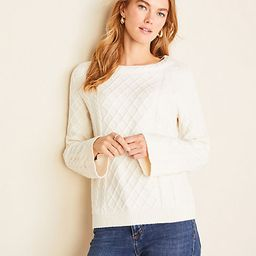 Petite Mixed Stitch Cable Sweater | Ann Taylor | Ann Taylor (US)