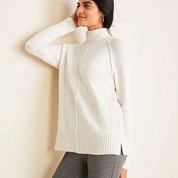 Petite Seamed Turtleneck Tunic Sweater   Ann Taylor   Ann Taylor (US)