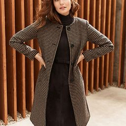 Houndstooth Jewel Neck Coat   Ann Taylor   Ann Taylor (US)