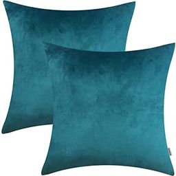 HOMFINER 20x20 inch Velvet Throw Pillow Covers for Couch, Pack of 2, Soft Decorative Bed, Sofa or... | Amazon (US)