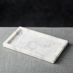 French Kitchen Marble Rectangle Tray + Reviews | Crate and Barrel | Crate & Barrel