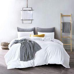 ATsense Duvet Cover Queen, 100% Washed Cotton, Bedding Duvet Cover Set, 3-Piece, Ultra Soft and E... | Amazon (US)