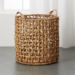 Links Large Natural Basket with Handles + Reviews | CB2 | CB2