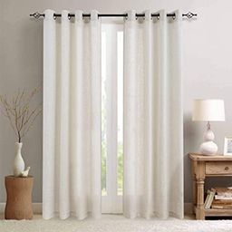 jinchan Linen Textured Curtains for Living Room Grommet Top Window Treatment Set for Bedroom 2 Pa... | Amazon (US)