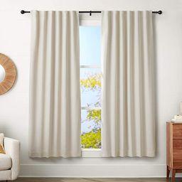 "AmazonBasics 1"" Curtain Rod with Round Finials - 72"" to 144"", Black | Amazon (US)"