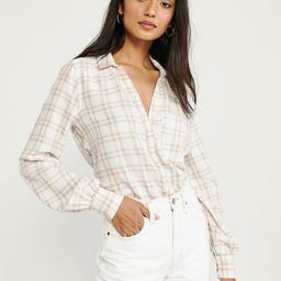 Puff-Sleeve Shirt | Abercrombie & Fitch US & UK