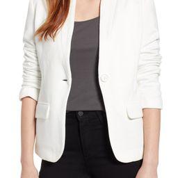 Notch Collar Cotton Blend Blazer   Nordstrom