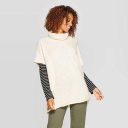 Women's Rolled Edge Poncho - Universal Thread™ | Target