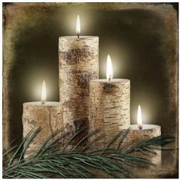 Ohio Wholesale Radiance Lighted Birch Candle Canvas Wall Art, from our Lodge Collection | Amazon (US)
