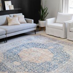 Alexander Home Isabelle Traditional Vintage Border Printed Area Rug   Overstock.com Shopping - Th...   Overstock