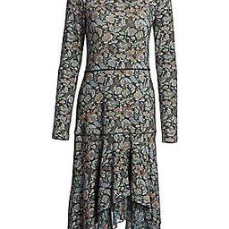 Long Sleeve Floral Midi Dress | Saks Fifth Avenue