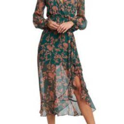 Justine Long Sleeve Floral Chiffon Dress | Nordstrom