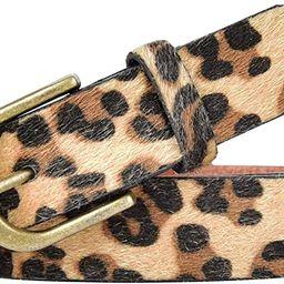 Talleffort Leopard Print PU leather Belt Women's Waist Belt Artificial Horse hair Belts for Women   Amazon (US)