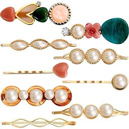9PCS Pearl Hair Clips for Women(Style 5) | Amazon (US)