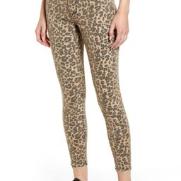 Ellie Leopard Print High Waist Ankle Skinny Jeans | Nordstrom