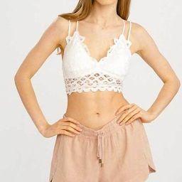 Wishlist Double Strap Padded Lace Bralette in Ivory | Glik's