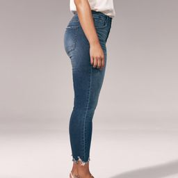 Button Front High Rise Super Skinny Ankle Jeans | Abercrombie & Fitch US & UK