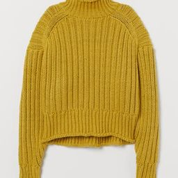 Rib-knit Turtleneck Sweater   H&M (US)