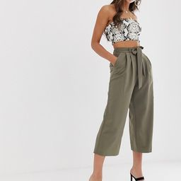 ASOS DESIGN culotte with tie waist | ASOS US
