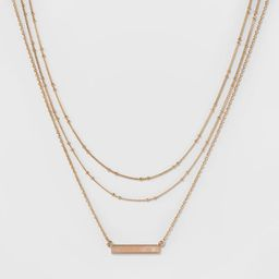 SUGARFIX by BaubleBar Layered Necklace with Bar - Gold | Target