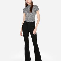 high waisted black bell flare jeans | Express